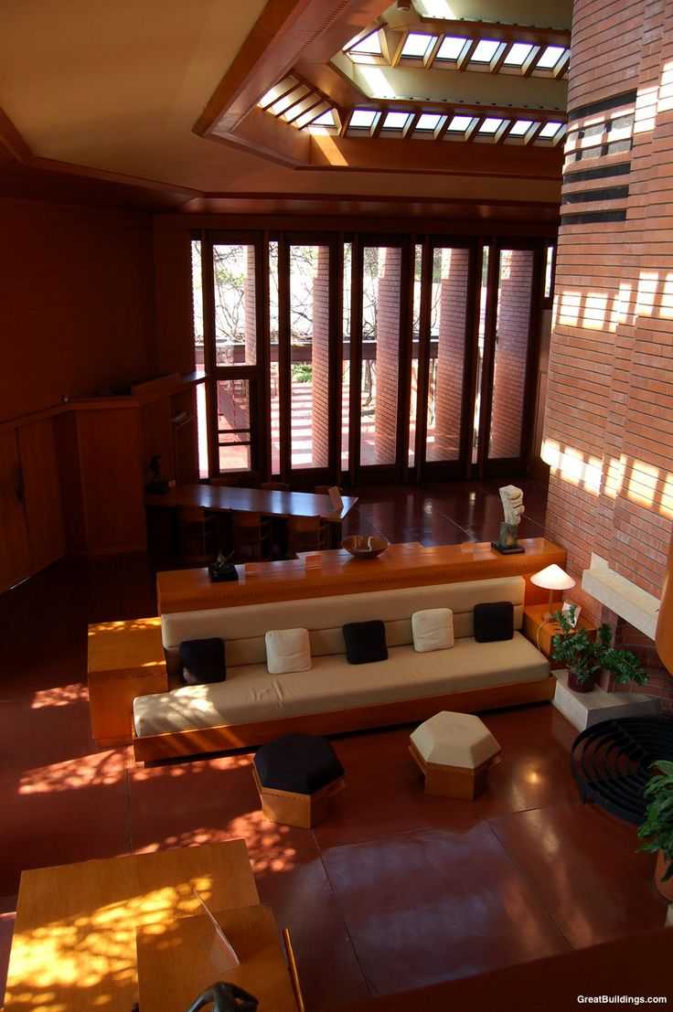 112 best images about frank lloyd wright on pinterest for Frank lloyd wright interior designs