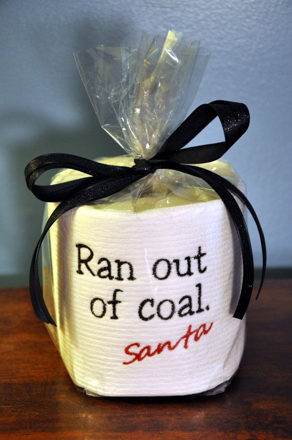 Embroidered Toilet Paper Ran Out of Coal Santa by PinkBlueKitty