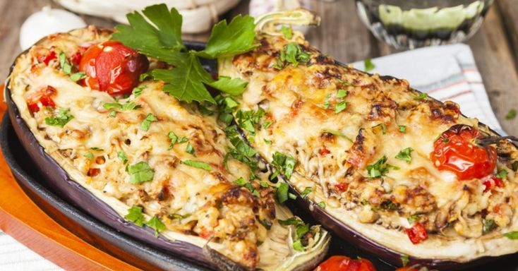 You Have To Try This Cheesy Stuffed Eggplant!