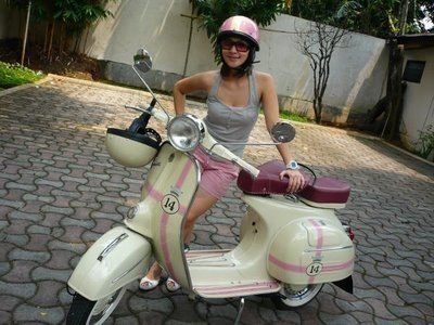 Urban Girls In Vintage Scooters