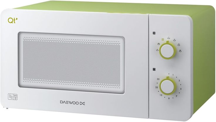 Daewoo QT2  Lime Green & White Compact Microwave - 600W - Caravan, Motor home