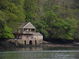 The boathouse at Greenway. Greenway house, Agatha Christies holiday house situated on the River Dart between Dartmouth and Totnes.