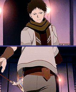 "Akagami no shirayuki hime season 2 "" Snow White with the red hair "" Zen and obi training and fighting ><"