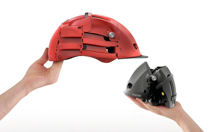overade foldable bike helmet by agency 360 - designboom | architecture