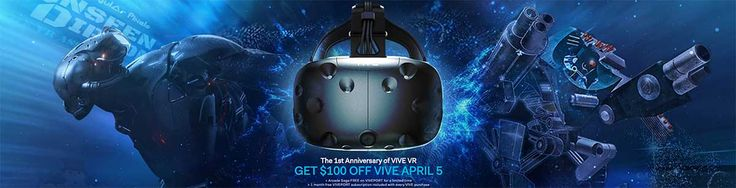 Today is the one-year anniversary of the release of the HTC Vive. To celebrate, HTC is offering the HTC Vive for $699, a $100 discount.