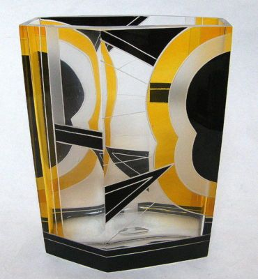 Art Deco Karl Palda Vase Circa 1930 – Czech Crystal | Antique
