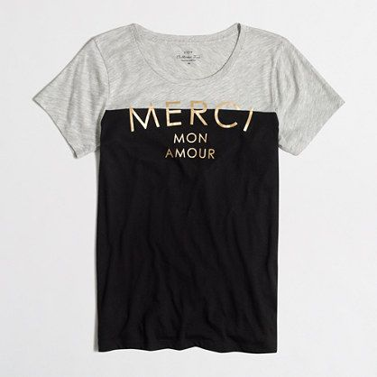 $24 50 Jew crew Factory Factory merci mon amour collector tee