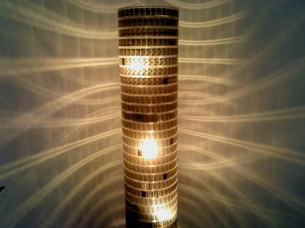 Movie-lamp - I have to do this, even have an old film reel in the basement for it!
