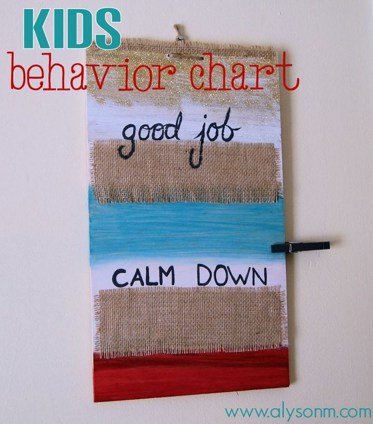 #DIY Behavior Chart for children. A great method that works!