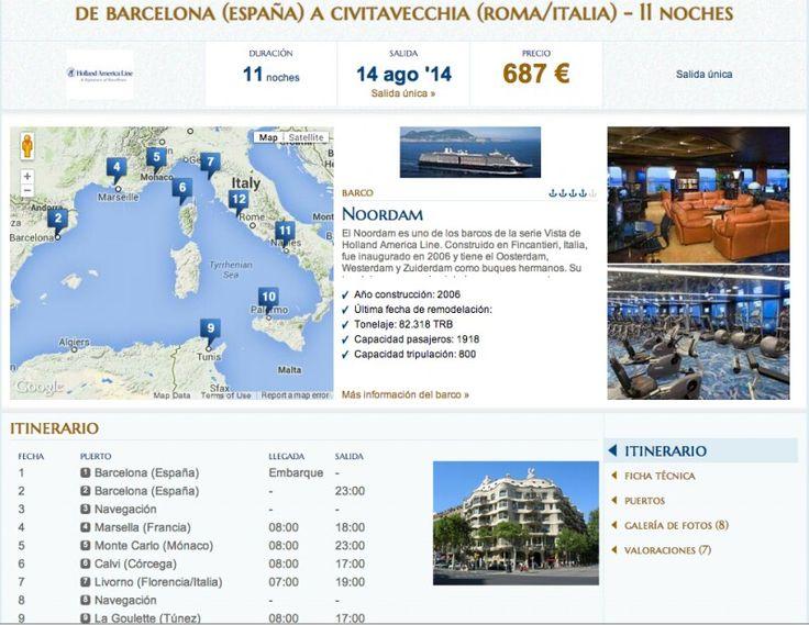 Oferta Crucero Verano 2014: 12 días, por el Mediterráneo, salida 14 de Agosto con Noordam desde 584€ http://www.crucerista.net/blog/oferta-crucero-verano-2014-12-dias-por-el-mediterraneo-salida-14-de-agosto-con-noordam-desde-58  ##hollandamerica #ofertas #cruceros #vacaciones