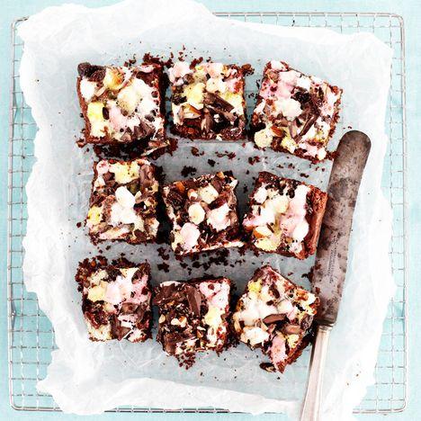 Rocky road brownies suklaakakun palat