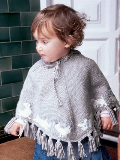 158 best images about Baby Ponchos - Knitting and Crochet Patterns on Pinterest