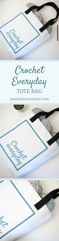 Crochet everyday tote bag | crochet tote bag | yarn bag | crochet project bag | crochet bag via @http://pinterest.com/joyofmotion/