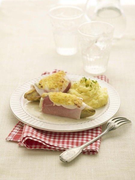 Witloofrolletjes met Meesterlyck-ham - - Recepten - - Kazen van bij Ons