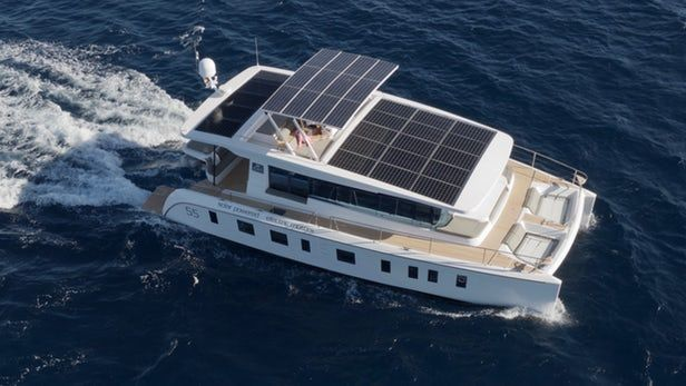 Silent 55 Yacht Promises Up To 100 Miles Of Solar Powered Cruising Per Day Solar Yacht Solar Energy Panels Solar Projects