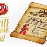 Convite Pergaminho Princesa Elena de Avalor