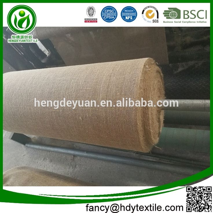 Factory sale Eco-Friendly Plain Knitted wall decoration wholesale jute hessian fabric roll