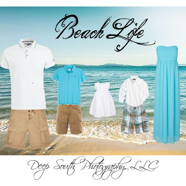 """Beach Life Family Outfits"" by deepsouthphotography on Polyvore"