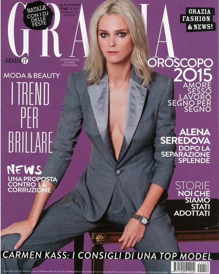 Grazia Italy December 2014 Cover (Grazia Italy) #carmenkass