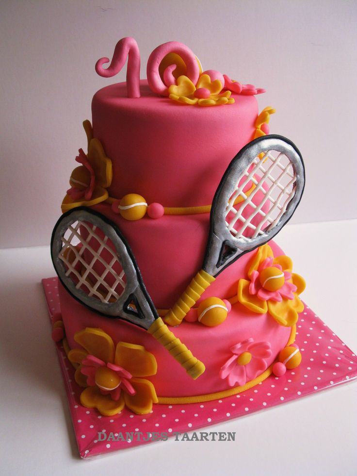 tennis sweet 16 cake