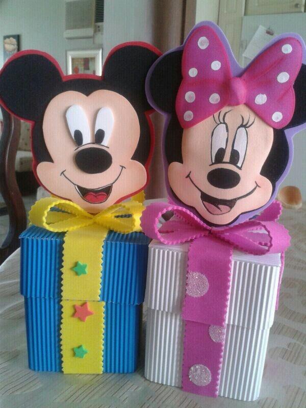 Sorpresas cajas de mickey y minnie mouse manualidades - Manualidades minnie mouse ...