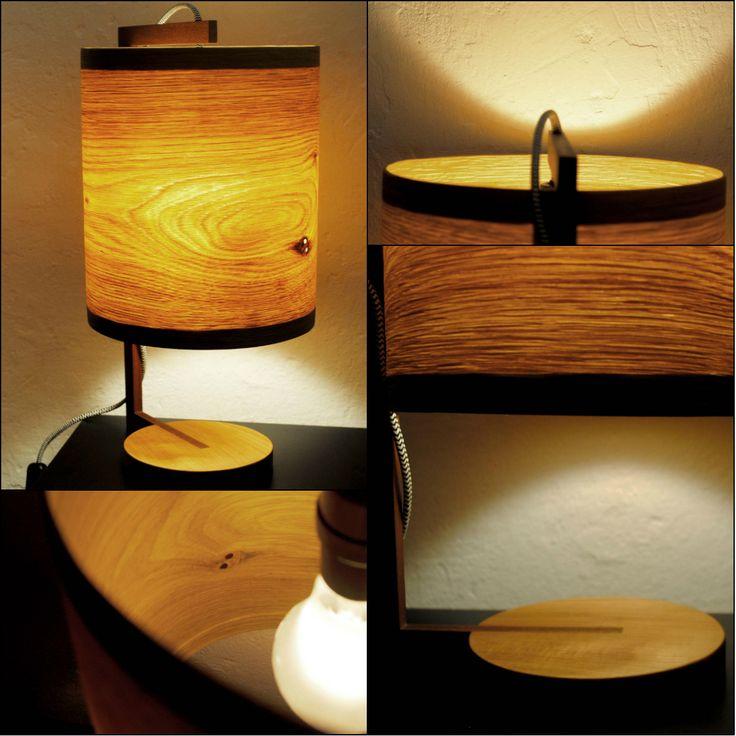 Zappy III - #handmade #woodlamps #tablelight #woodenlights #woodwork #veneer #veneerlight  Φωτιστικό επιτραπέζιο από καπλαμά δρυός και ξύλο από μαόνι. Διαθέτει υφασμάτινο καλώδιο και διακόπτη on/off. Διαστάσεις: διάμετρος καπέλου 23 εκ. , συνολικό ύψος 40 εκ.  Bedroom/Living room light, made of oak veneer and mahogany.  Comes with fabric power cable and on/off switch.  Dimensions: Diameter: 23 cm, Total height: 40 cm