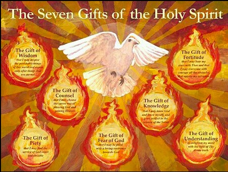 Seven Gifts of the Holy Spirit. With these we can defend our faith, we become soldiers of God because we are given the 7 gifts of the Holy Spirit to do so.