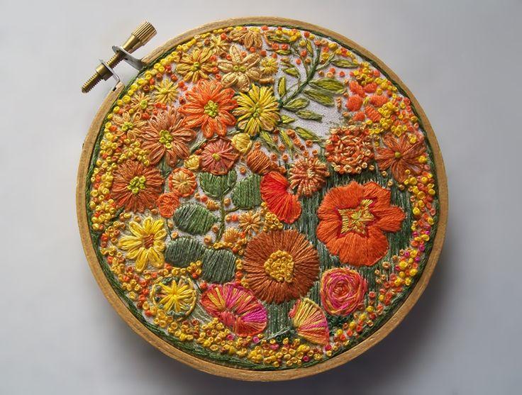 Цветочные сады на пяльцах: чудесная вышивка от dozydotes - Ярмарка Мастеров - ручная работа, handmade