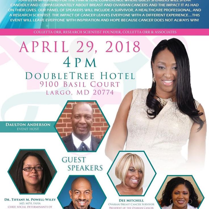 Join us for the Pink & Teal Conference as our guests speakers grace the stage to help you improve your breast and ovarian health. Last years conference was a HUGE success! For tickets click the link in the bio and go to the conference page. @swaghermagazine @kindrederm @mr_m.c @tealdeeva @corretta_doctor #breastcancer #ovariancancer #survivor #womenshealth #PinkAndTealConference #collettaorrandassociates #CancerDoesntAlwaysWin #Largo #Maryland #DMV #losangeles #charlotte #virginia #atlanta…