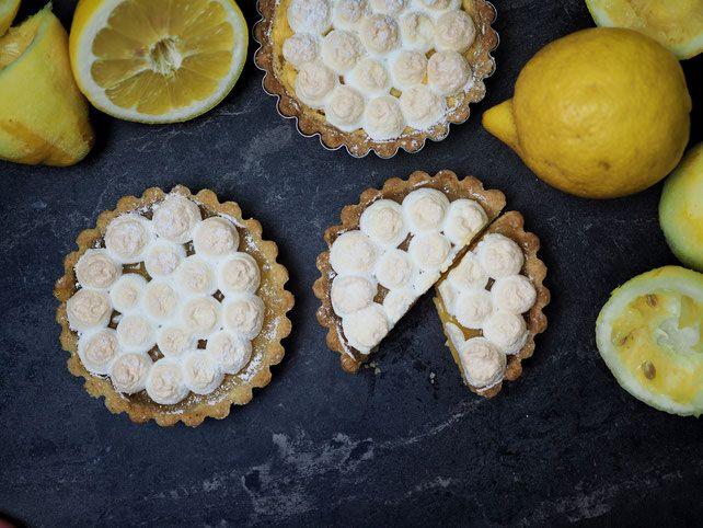 Rezept für Zitronentörtchen mit Zitronenquark und Baiser   – Gute rezepte