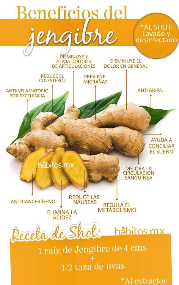 Beneficios del Jengibre #hábitosmx #hábitos #salud #health  #Nutrición y #Salud…
