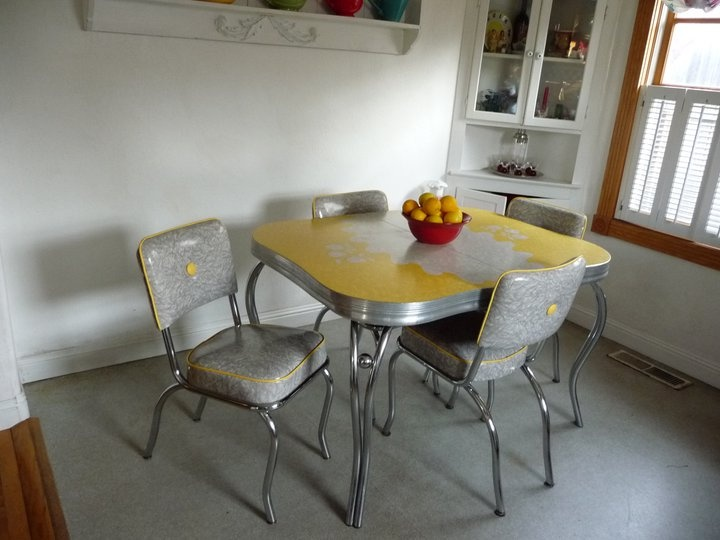 Best Formica Tables Images On Pinterest Formica Table Retro - Chrome and formica dinette sets