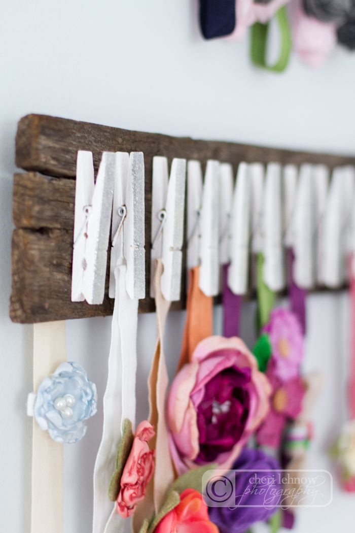 tinkerwiththis: hanging around: a headband holder, for a baby girl