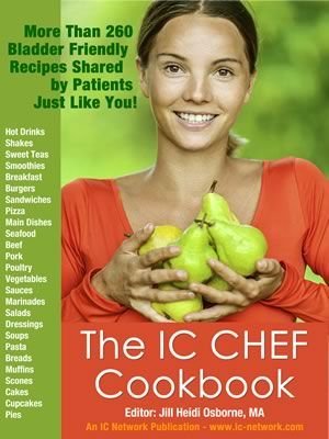 Now taking orders for the newest IC diet resource, IC Chef Cookbook! Please share with your IC friends! Learn more, review the table of contents and recipe list here! Available as an instant download or in print. Kindle will be coming shortly!