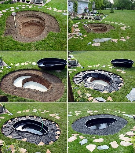 90 best images about small koi ponds on pinterest pond for Fish ponds for small gardens