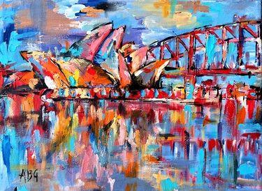 """Saatchi Online Artist Anna Gammans; Painting, """"Sydney, Australia"""" #art"""