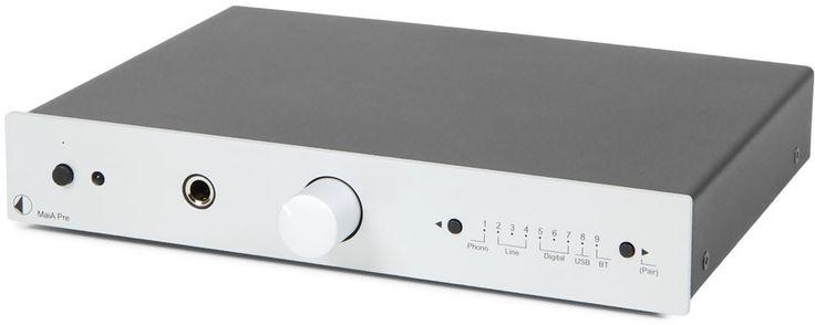 Erittäin pienikokoinen esivahvistin monipuolisilla liitännöillä. Tasokas levysoitinliitäntä, analogiset ja digitaaliset sisääntulot, USB-tulo sekä Bluetooth-yhteys mahdollistavat laajan liitettävyyden kaikille kodin äänilaitteille.