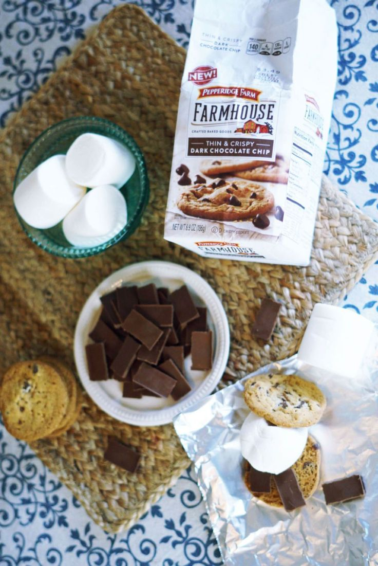 Accompany your Bacon Cheddar Burgers with Barbecued Chocolate Chip Cookie Chocolate Surprise S'more Recipe!