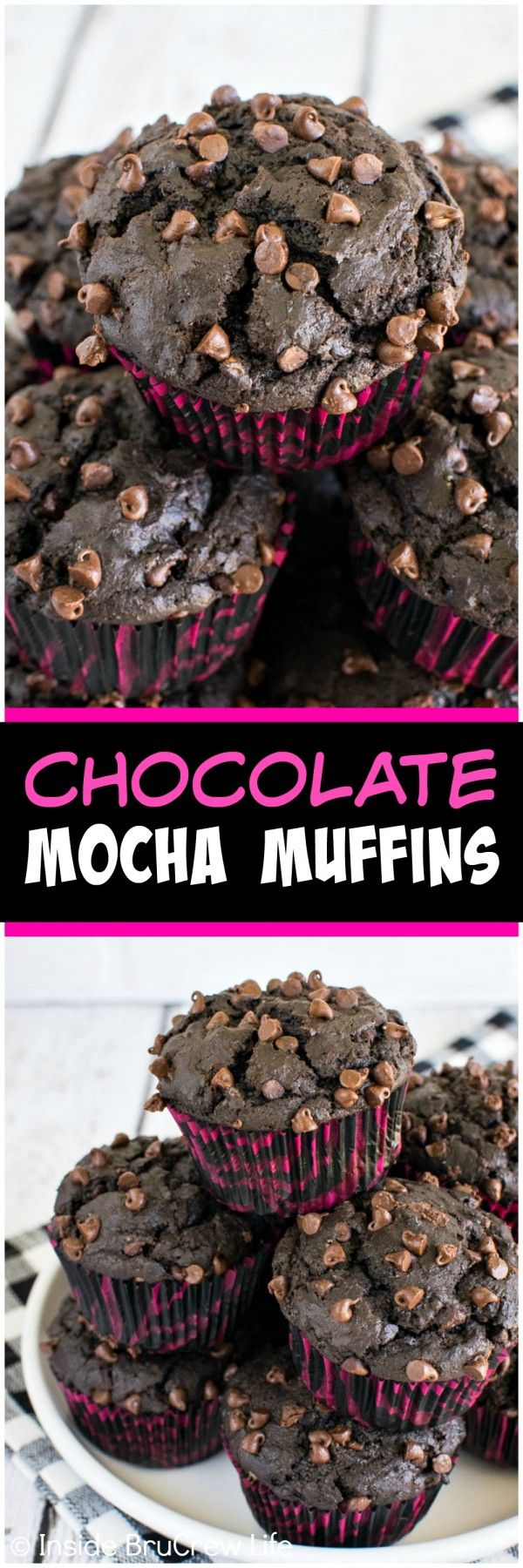 Chocolate Mocha Muffins - two times the chocolate in these muffins makes them irresistible!  Great breakfast recipe!