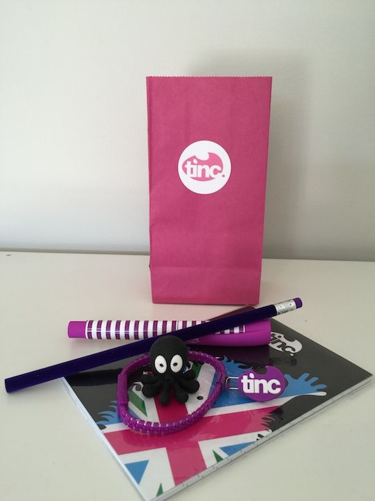 Kid's stationery party bag. Making parties easier. Grab your party bags ready made with quality stationery items. www.tinc.net.au