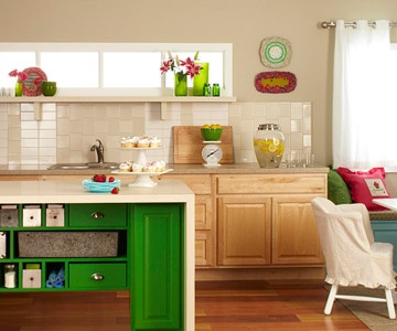 We've used a mix of new and thrift materials to construct this bold kitchen island.