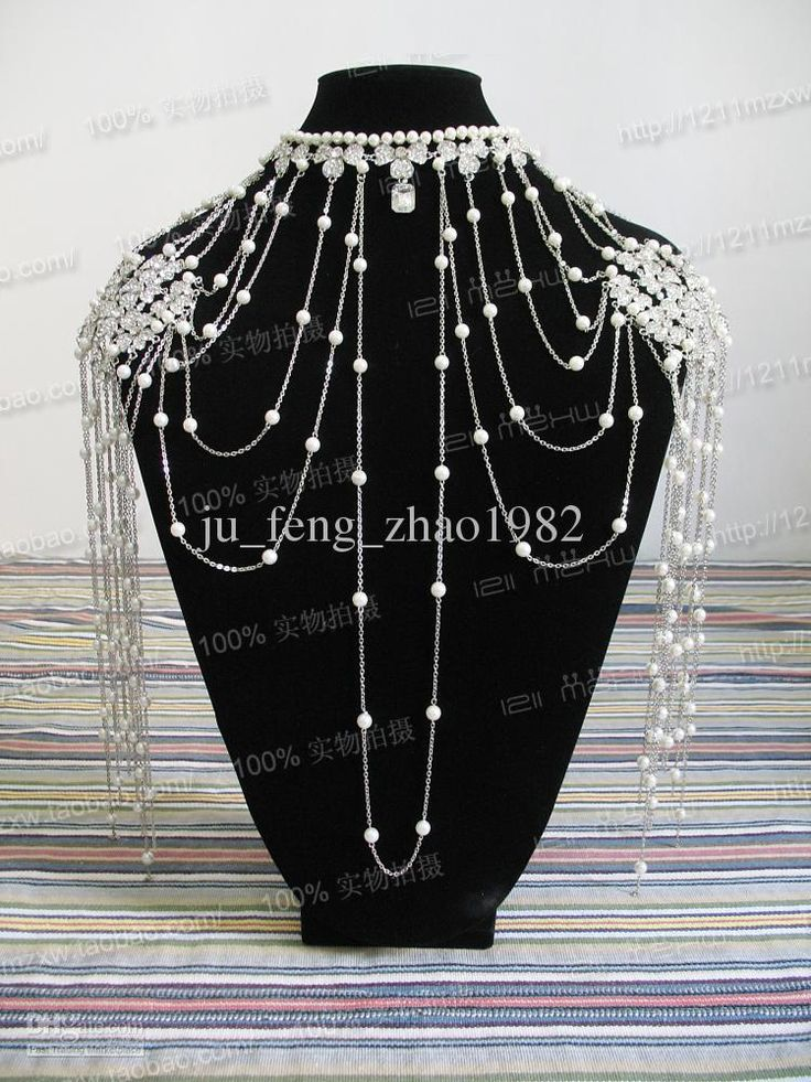Bridal Necklaces Pearl Crystal Shoulder Shawl Party Prom Evenig Bride 2013 New Wedding Accessories