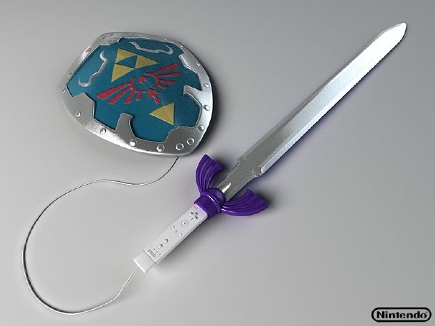 The Legend of Zelda: Now how cool is that? A Zelda Wii-mote and nunchuck.