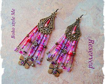 Boho Gypsy Valentine orecchini gioielli bohémien romantico