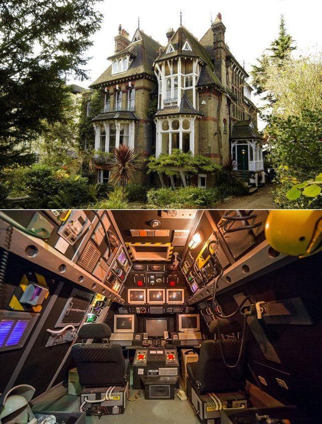 Cherche apt. ou maison avec cabine de vaisseau spatial dans le toit