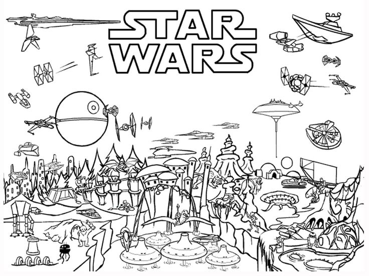 Star wars planets coloring pages