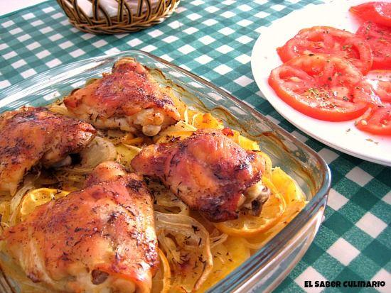 Receta-facil-pollo-horno-limon-tomillo