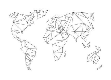 Geometrical World - white als Premium Poster | JUNIQE