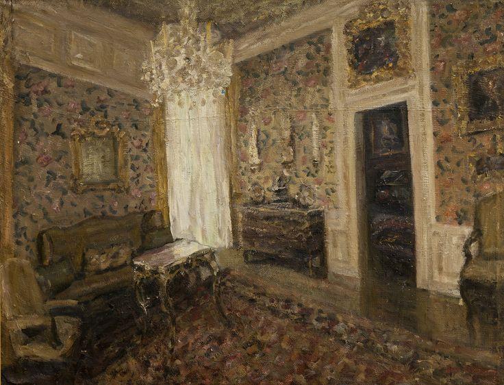 Ioana Batranu Melancholic interior 1995 oil on canvas