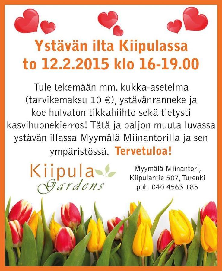 Kaikille avoin ystävänpäivätapahtuma, https://www.facebook.com/pages/Kiipula-Gardens/530382503700639?ref=hl#!/pages/Kiipula-Gardens/530382503700639?sk=photos_stream